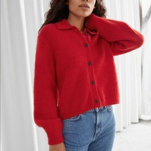 & Other Stories Wool Blend Button Cardigan
